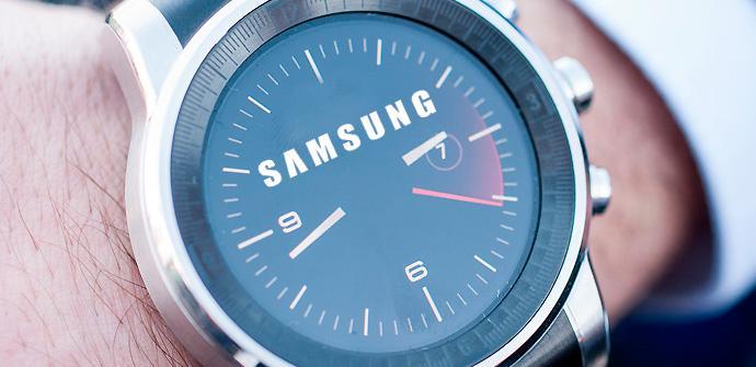 Samsung Gear con esfera circular.