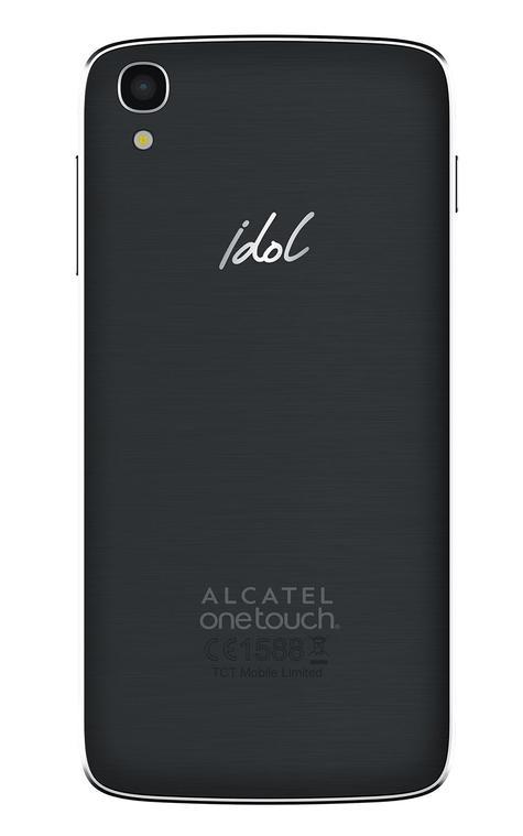 Alcatel One Touch Idol 3 con pantalla de 4.7 pulgadas vista trasera y cámara