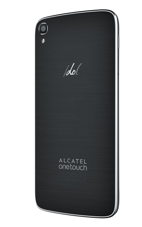 Alcatel One Touch Idol 3 con pantalla de 5.5 pulgadas vista lateral trasera