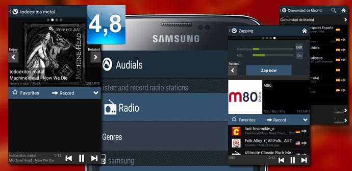 Montaje de Audials Radio