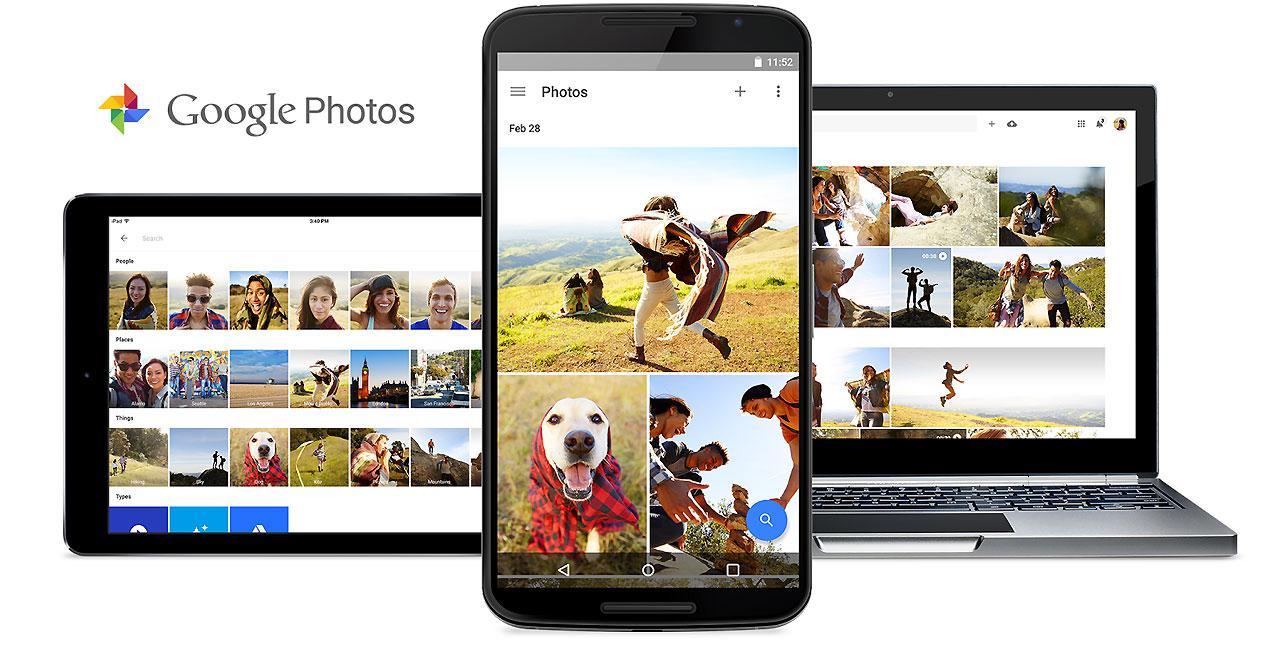 Interfaz de Google Photos