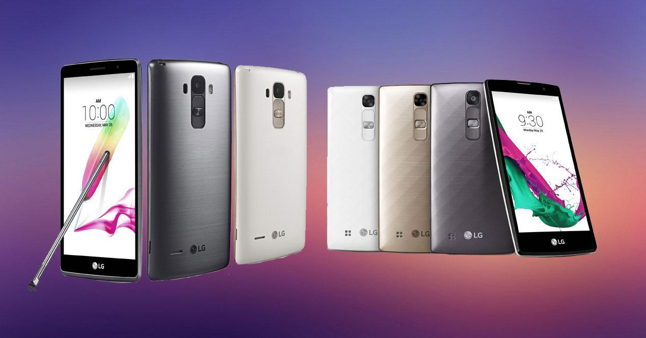 LG G4c y LG G4 Stylus
