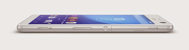 Sony Xperia C4 en color blanco visto de perfil