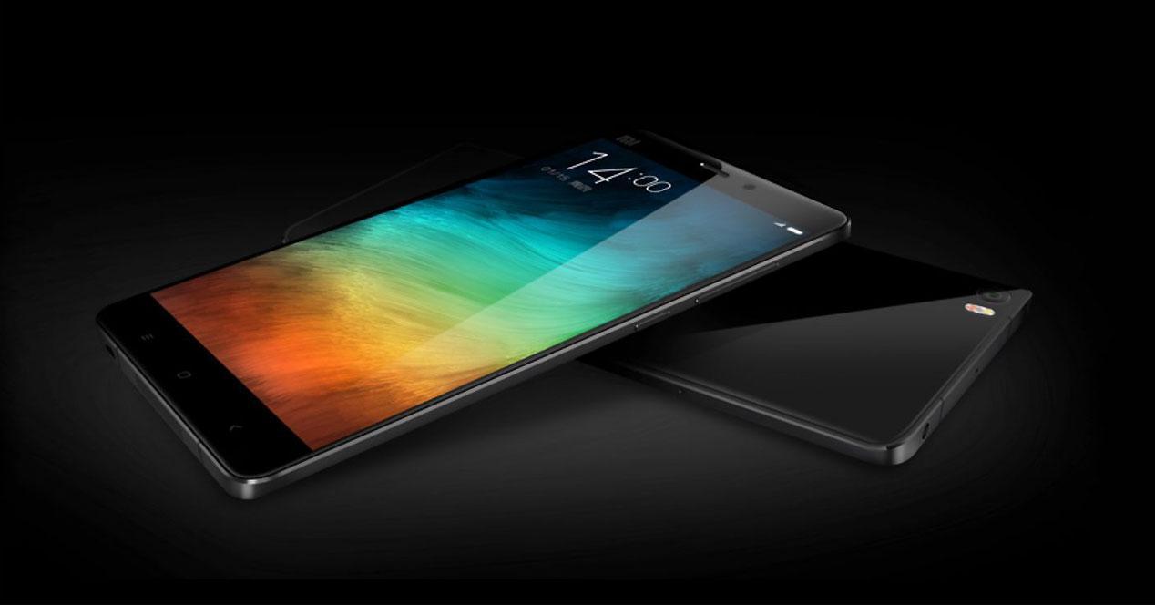 Diseño del Xiaomi Mi Note Pro