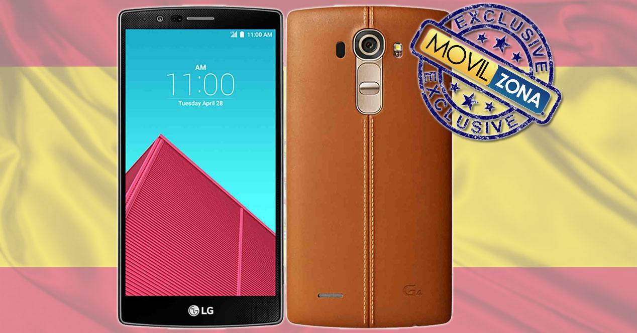 LG G4 bandera españa con sello exclusiva