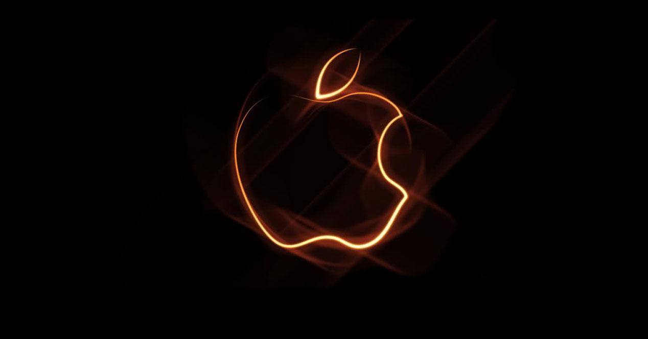 Logo de Apple en naranja