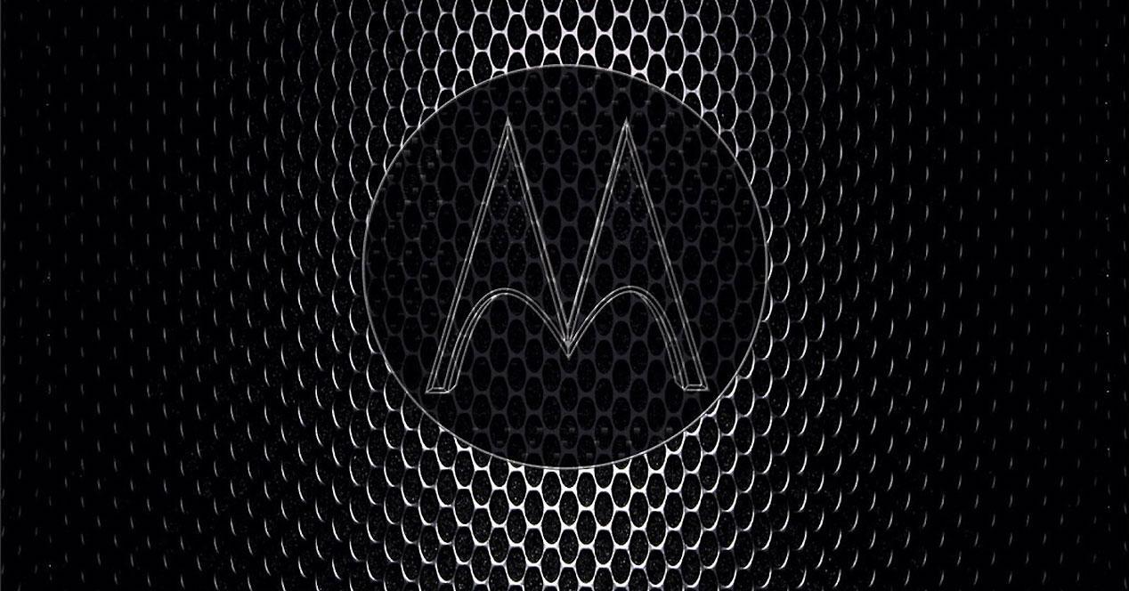 Logotipo metálico de Motorola