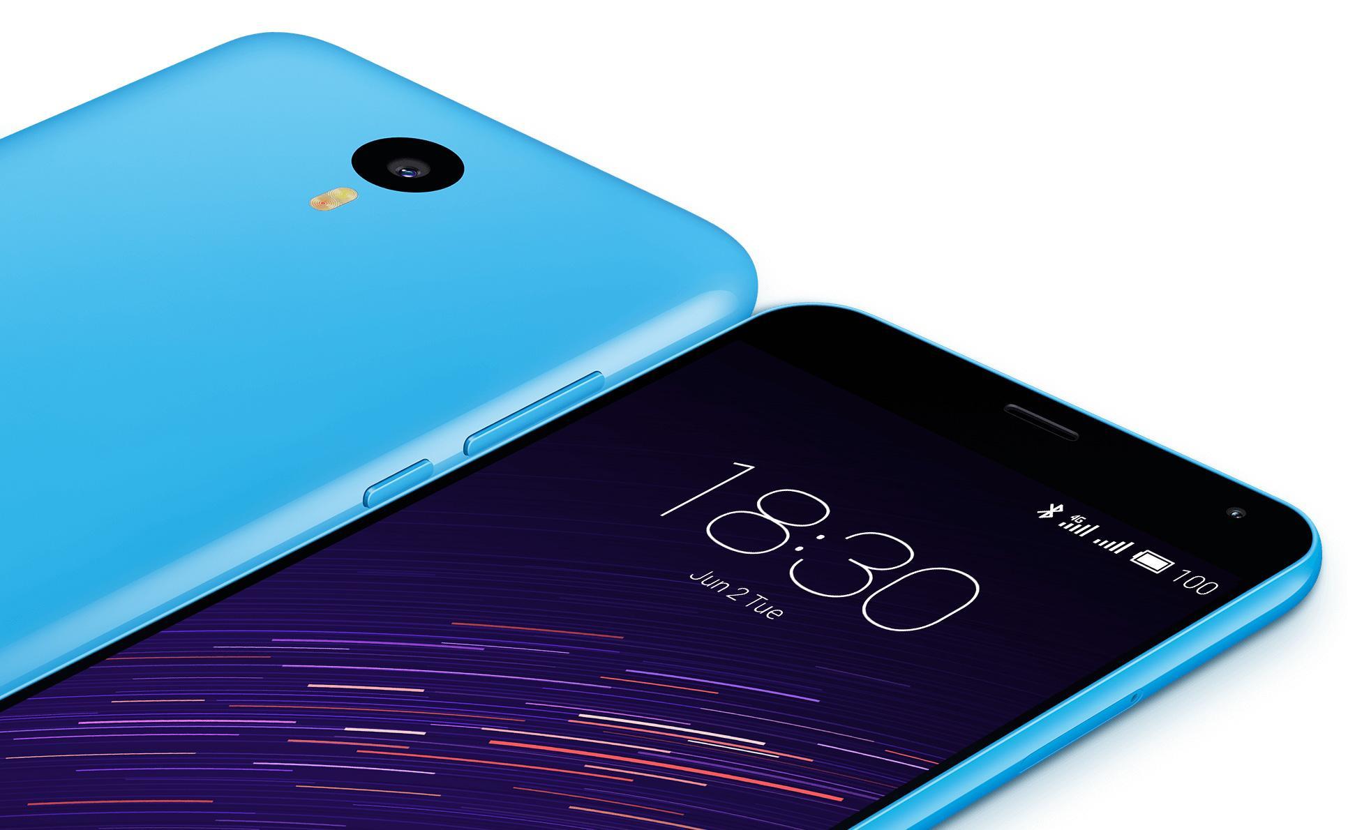 Meizu M2 Note de color azul