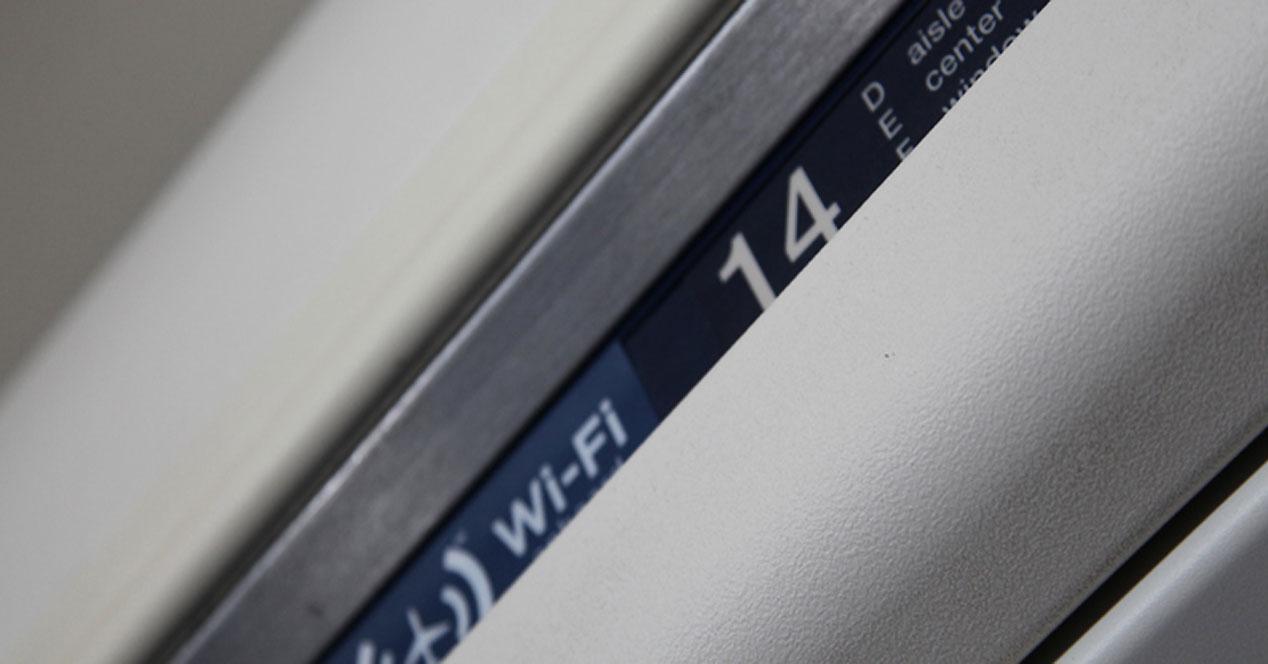 Conexión WiFi en aviones