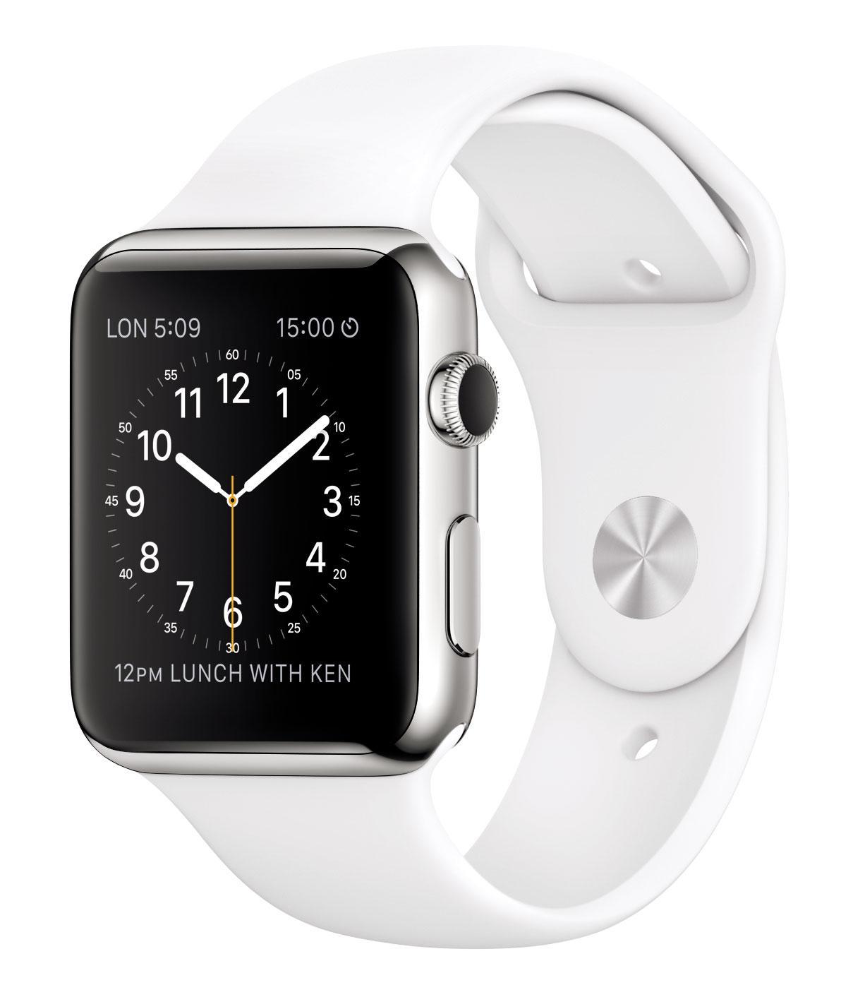 Apple Watch con correa blanca
