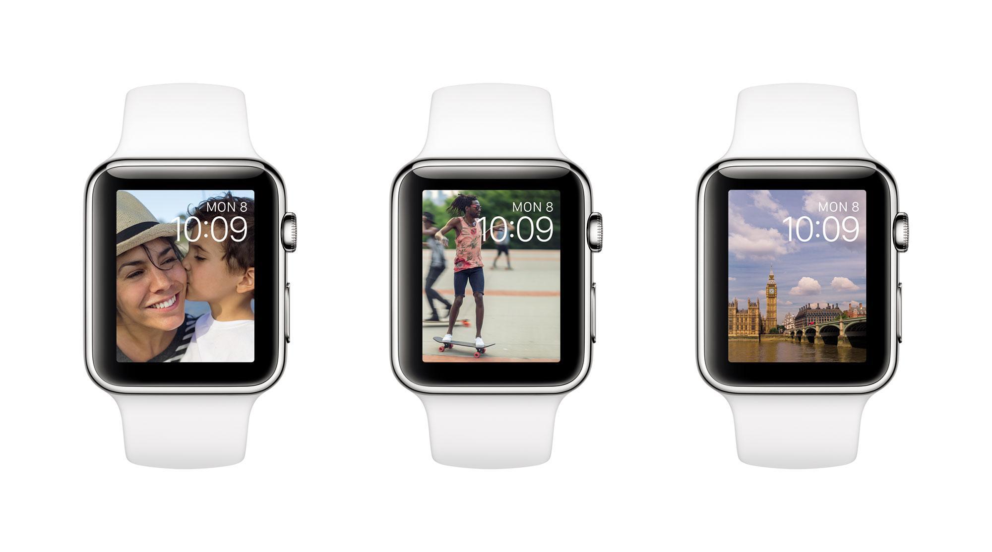 Apple Watch con fotos en la pantalla