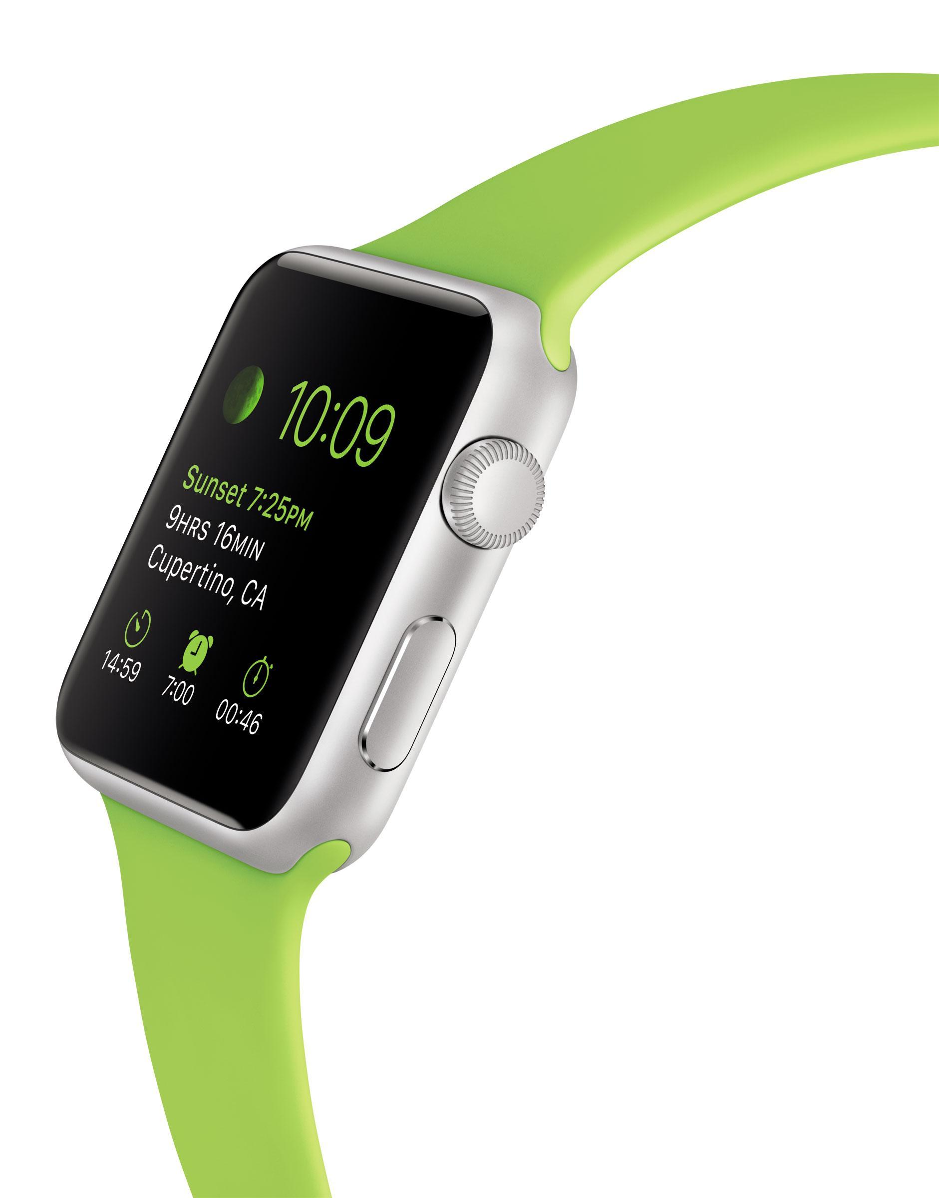 Apple Watch con la correa en color verde