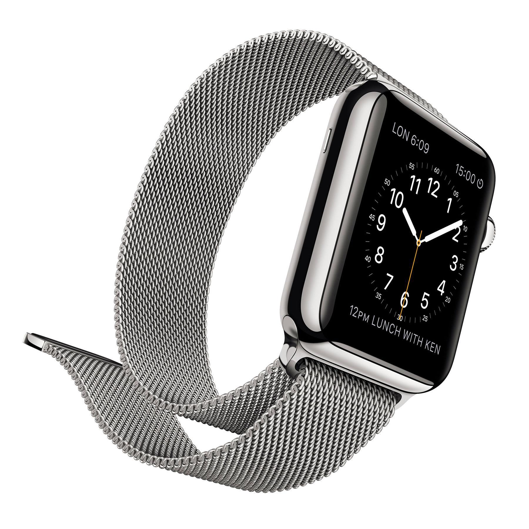 Apple Watch con correa metálica
