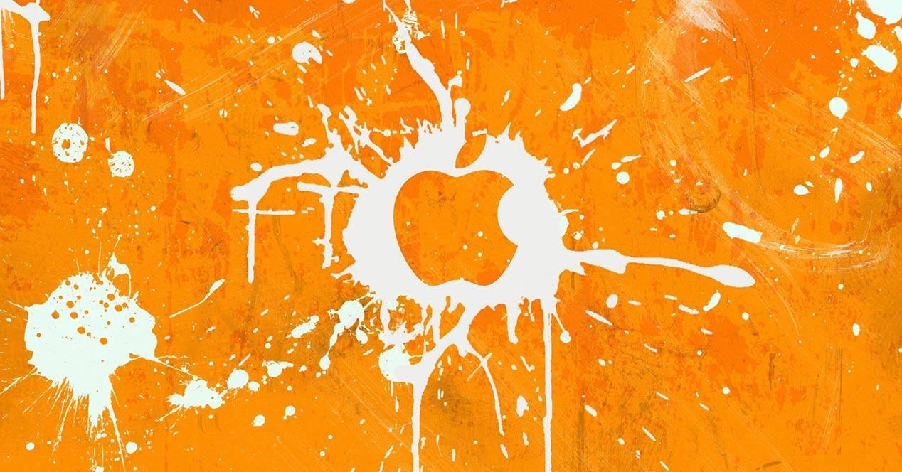 Logotipo de Apple en naranja