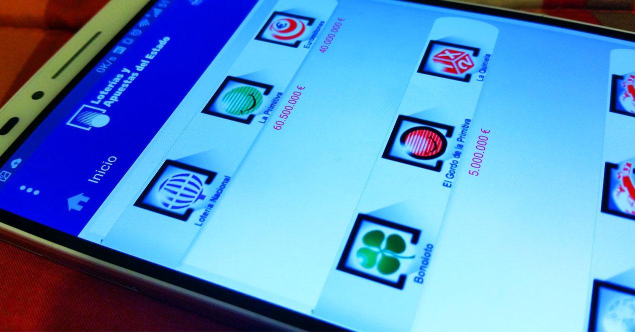 App Loterias y Apuestas para el movil