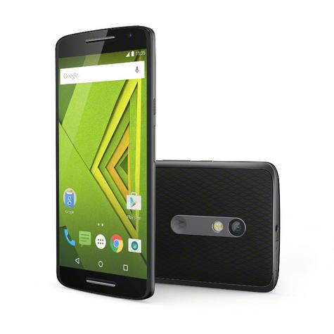 Motorola Moto X Play frontal y vista trasera