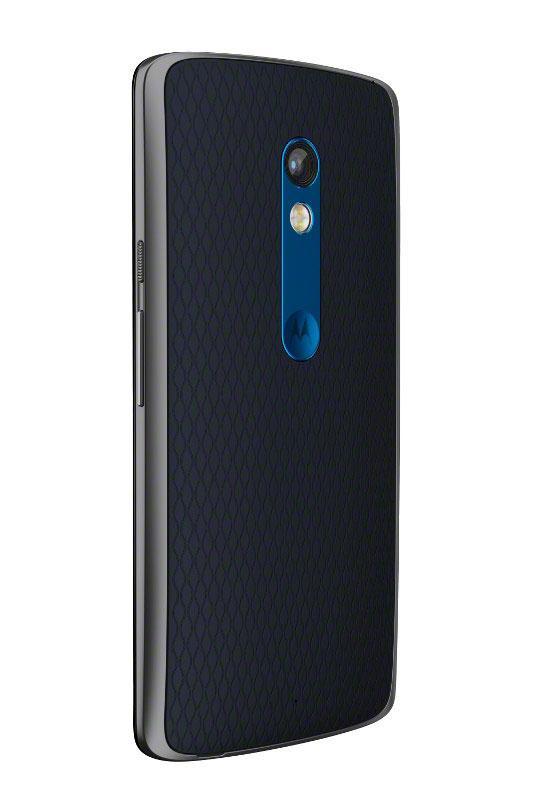 Motorola Moto X Play trasera negra y azul
