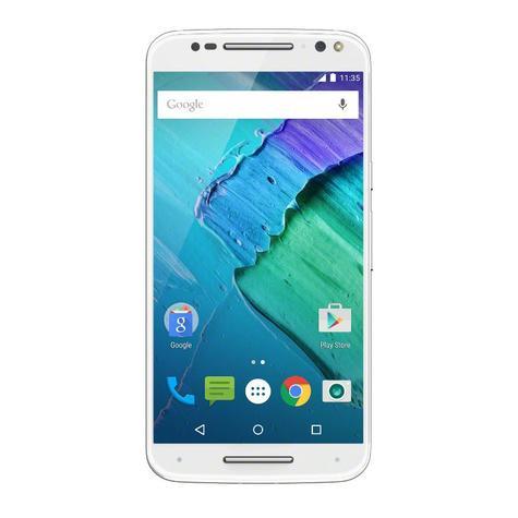 Motorola Moto X Style frontal blanco