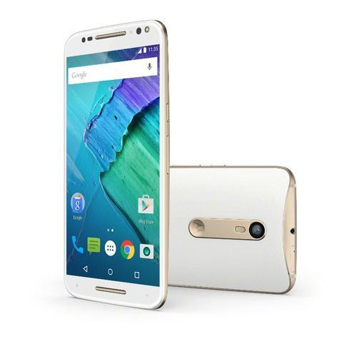 Motorola Moto X Style blanco vista frontal y trasera