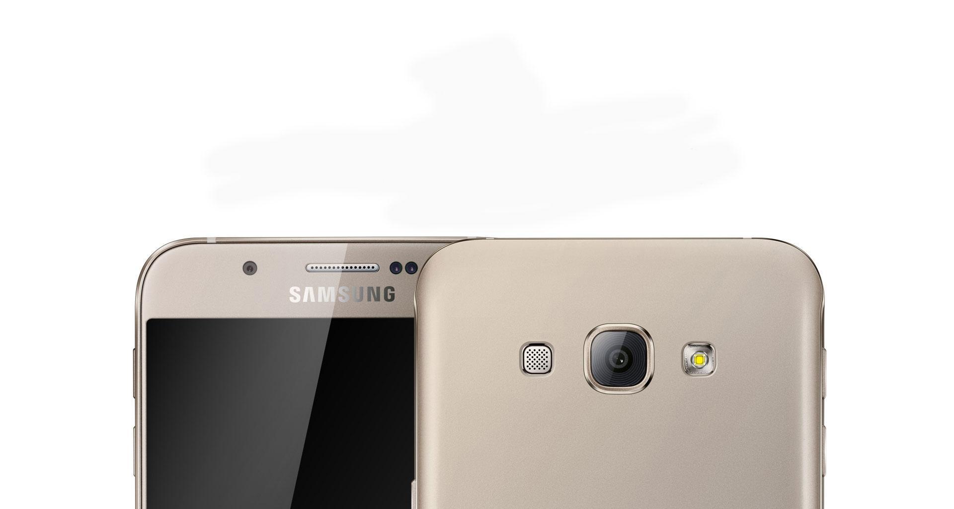 Samsung Galaxy A8 detalle de la cámara