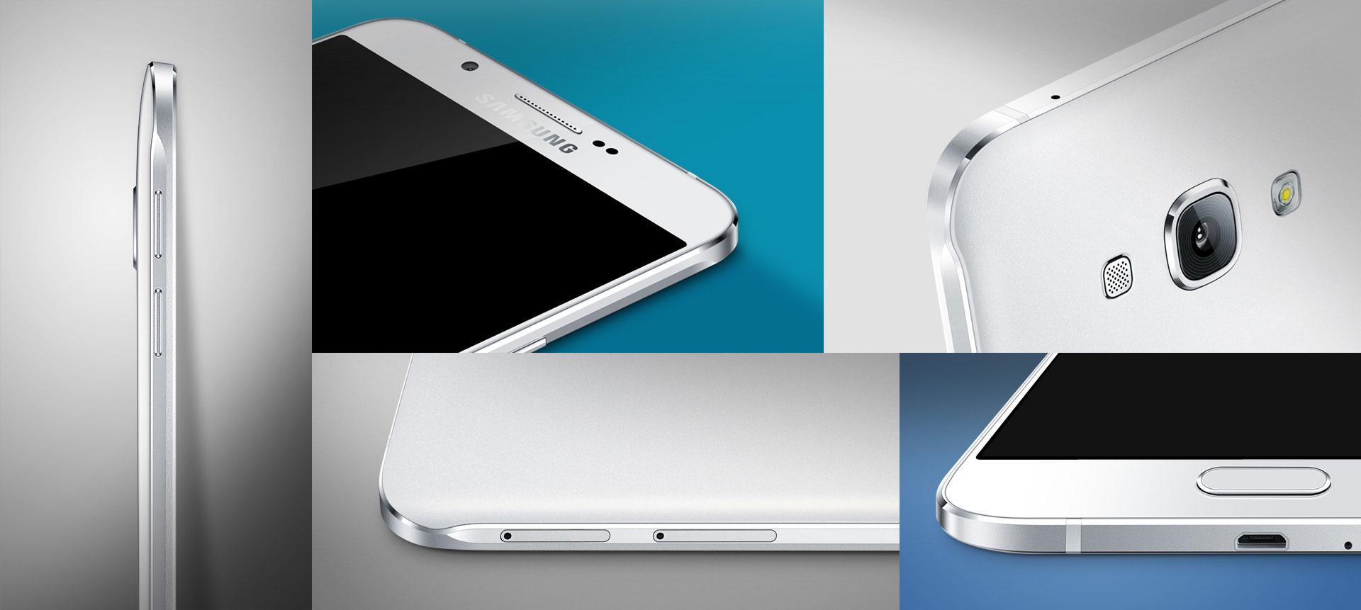 Samsung Galaxy A8 detalles de carcasa
