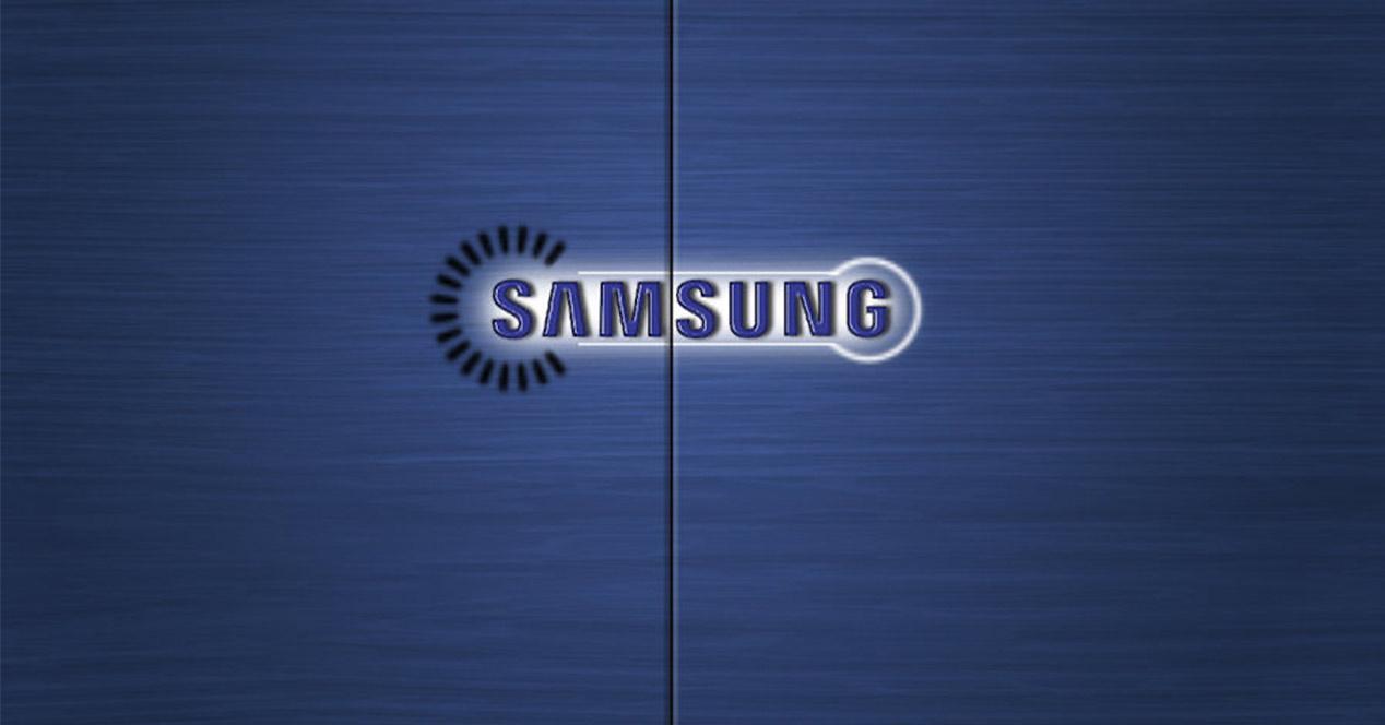 Logo azul de Samsung