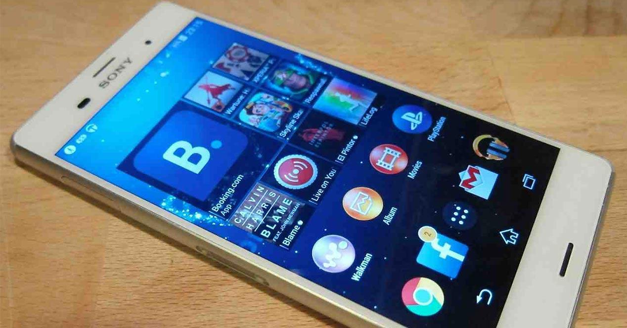 Interfaz Sony Xperia UI en un Sony Xperia Z3