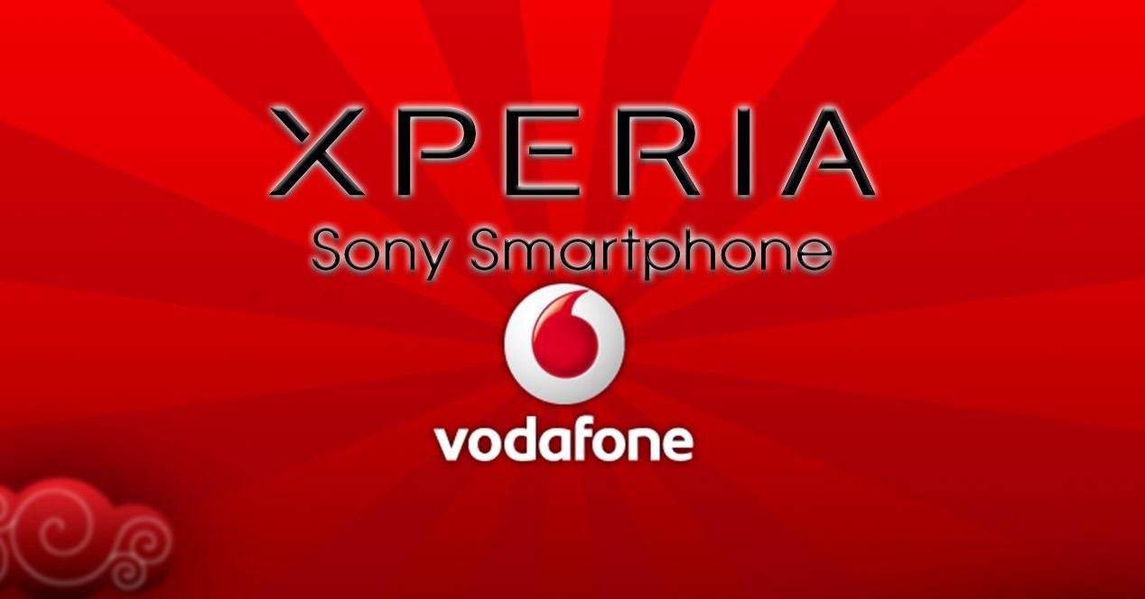 Logotipo de Sony Xperia y Vodafone