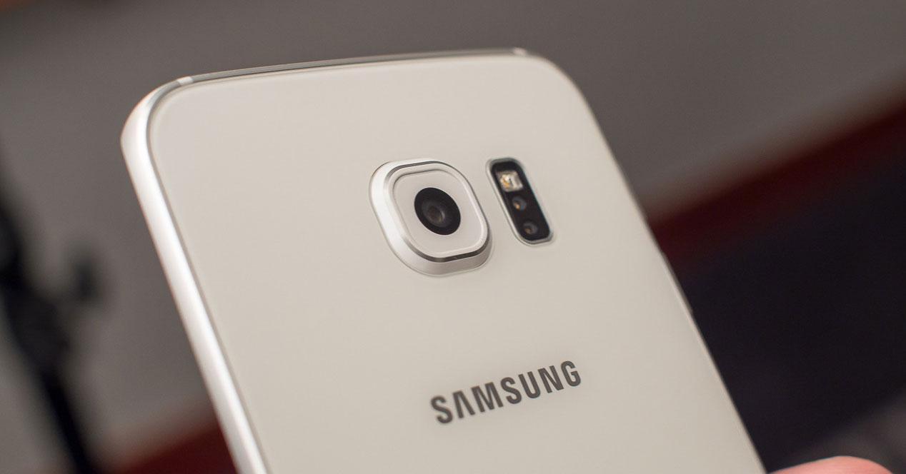 Cámara del Samsung Galaxy S6 blanco