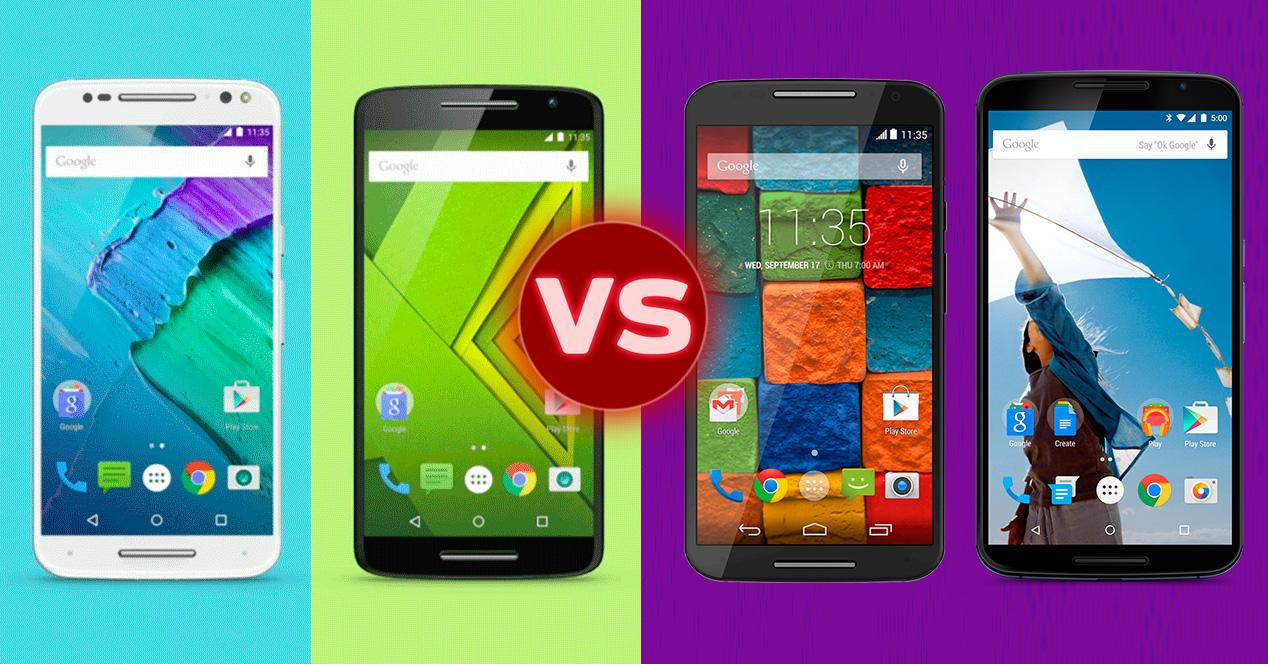 Comparativa Moto X Style, Moto X Play, Moto X 2014 y Nexus 6.