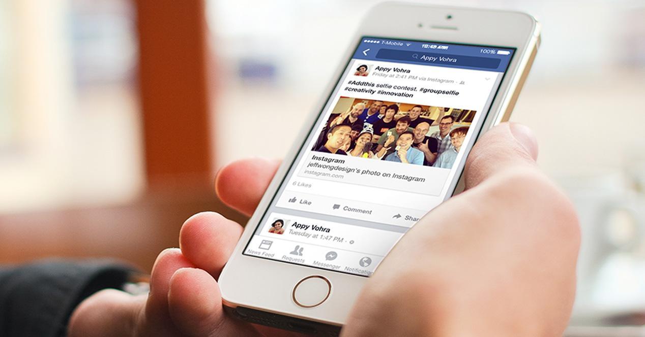 Facebook móvil.