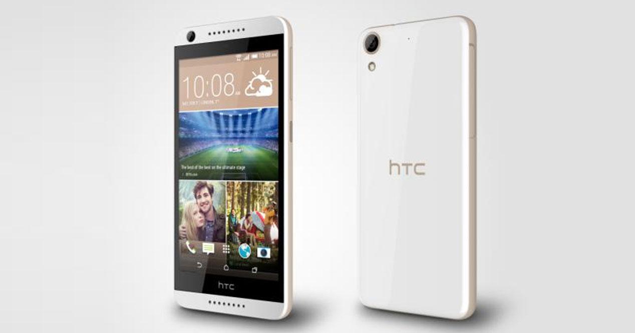 HTC Desire 626 en color blanco y dorado