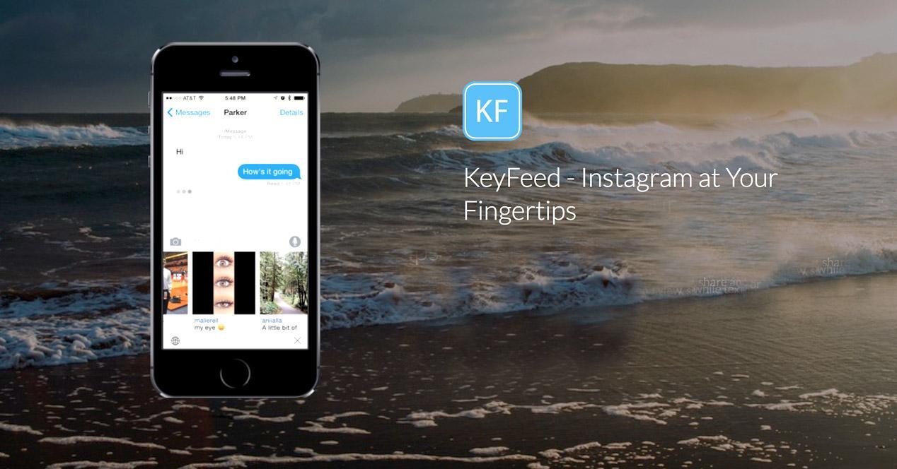 KeyFeed para iOS.