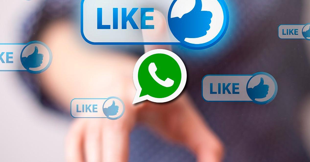 WhatsApp 'likes' estilo Facebook.