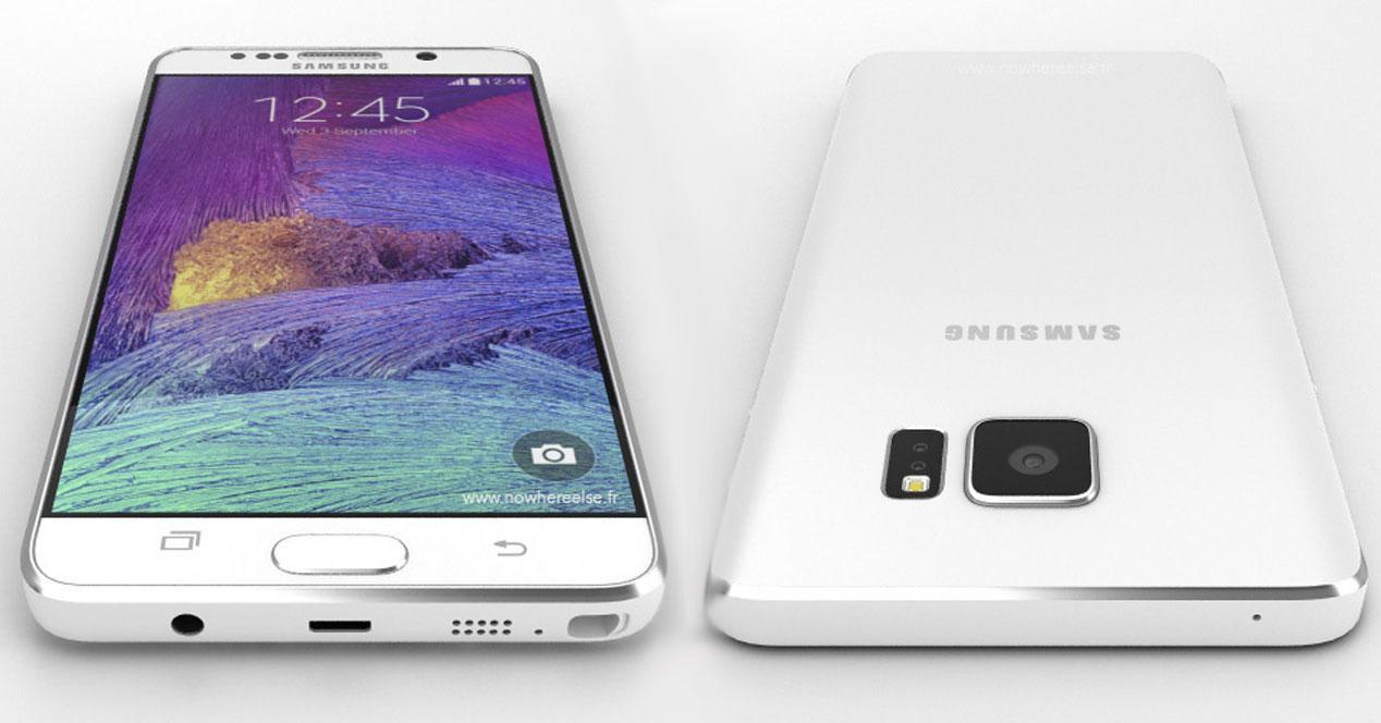 Samsung Galaxy Note 5 concepto en blanco