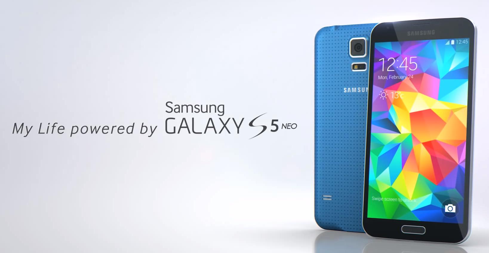 Foto oficial Samsung Galaxy S5 Neo azul