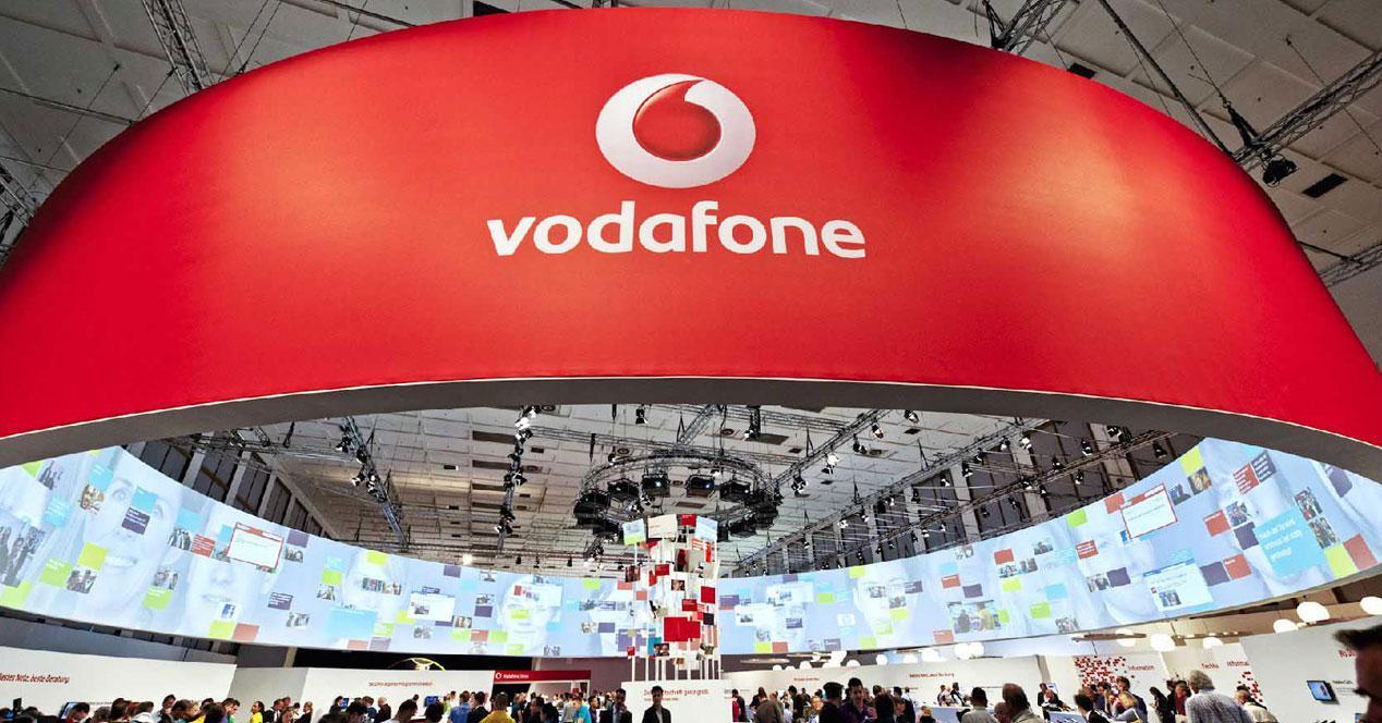 Vodafone stand en feria MWC