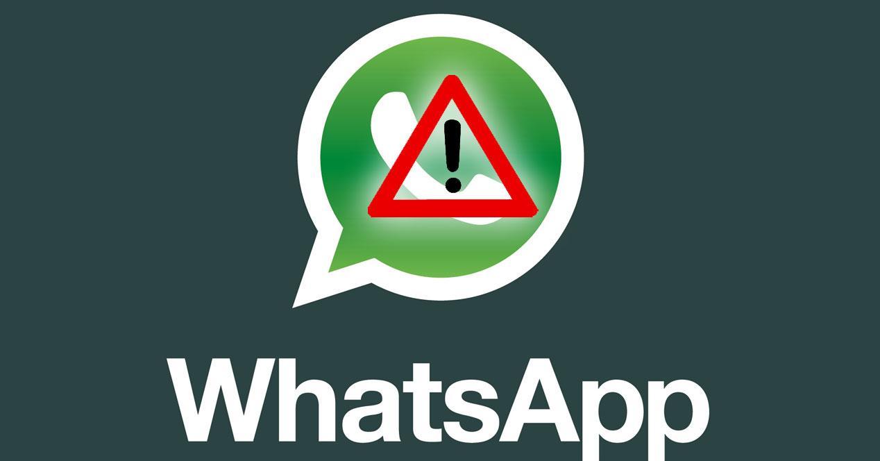 WhatsApp con señal de alarma