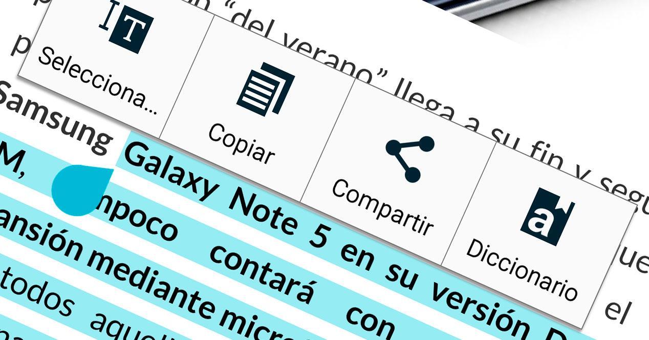 Copiar texto navegador Android