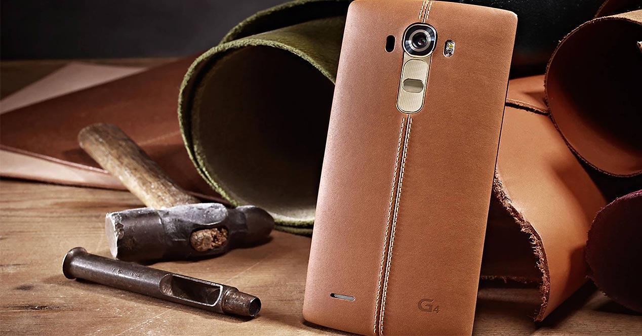 Carcasa de cuero del LG G4
