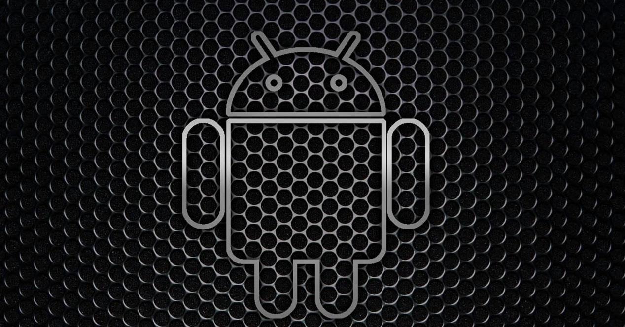 Logotipo Android en fondo negro