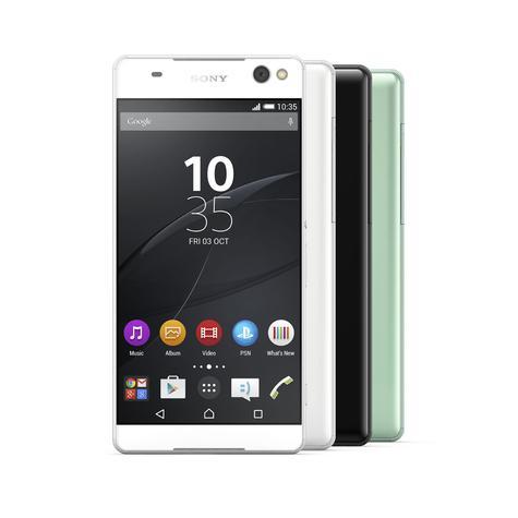Sony Xperia C5 Ultra en color blanco negro y verde