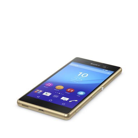 Sony Xperia M5 pantalla encendido color oro