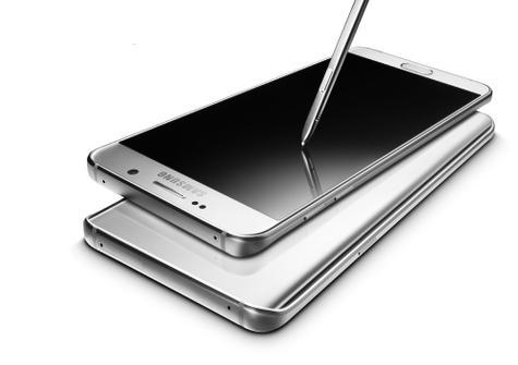 Samsung Galaxy Note 5 vista de la parte trasera en color blanco