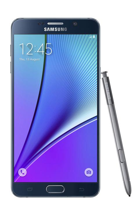 Samsung Galaxy Note 5 en color negro