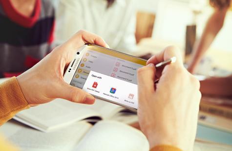 Samsung Galaxy Note 5 edición de documentos