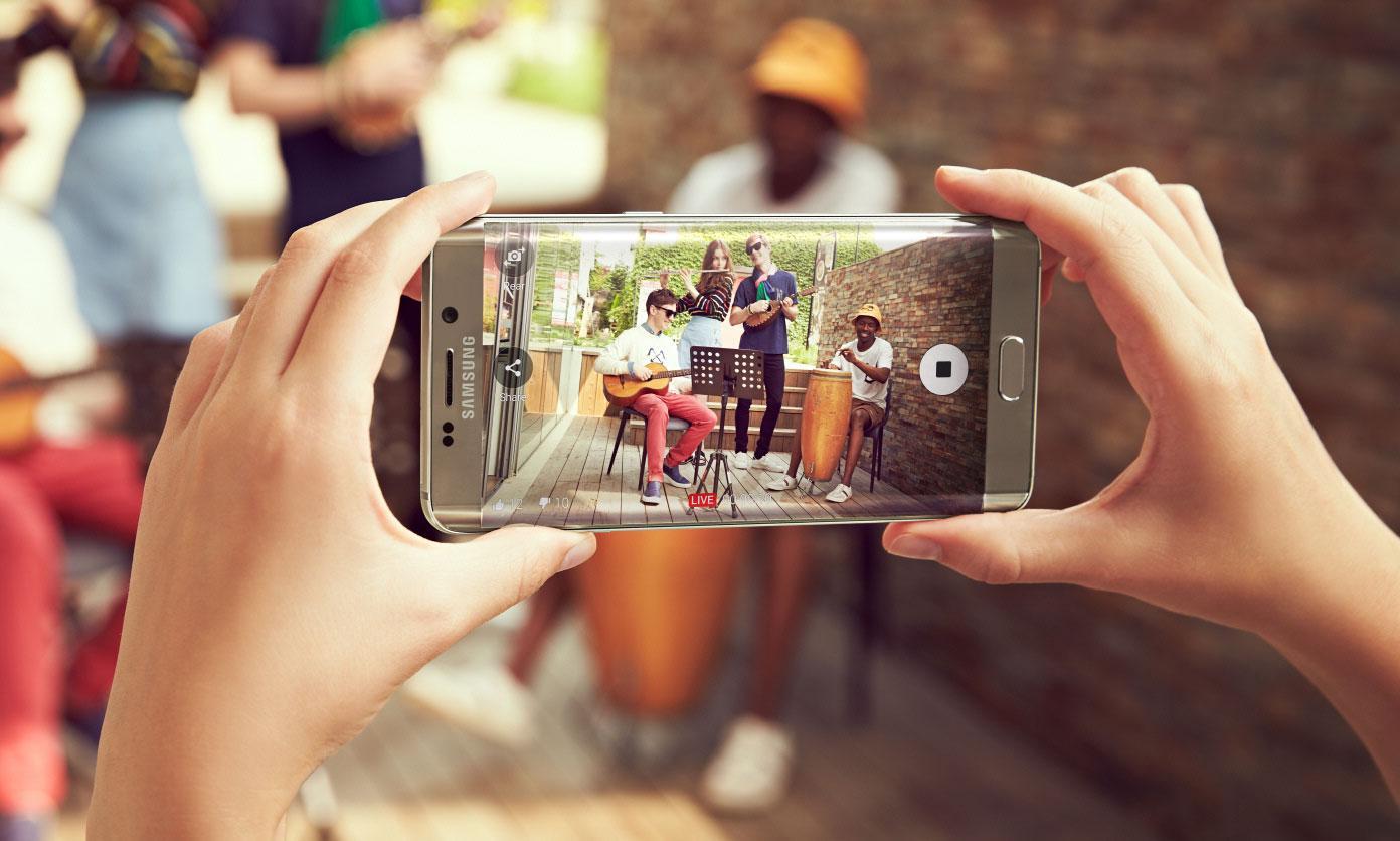 Samsung Galaxy S6 Edge Plus opciones de cámara