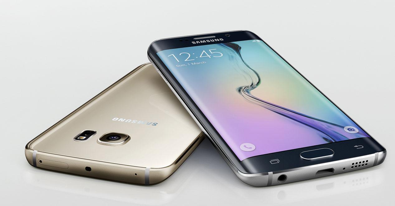Samsung Galaxy S6 edge plus negro y dorado