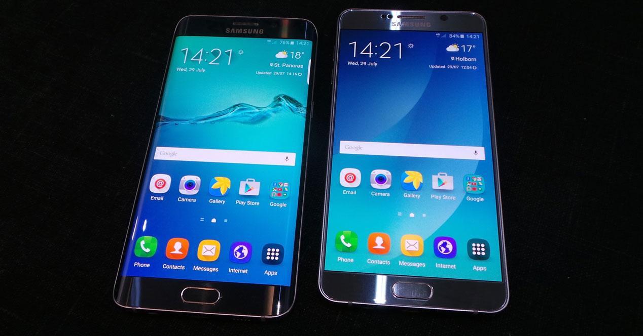 Samsung galaxy S6 edge plus y note 5