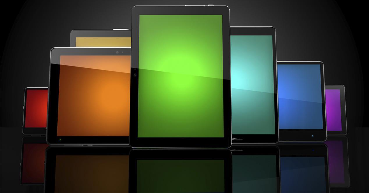 Tabletas de diferentes tamaños
